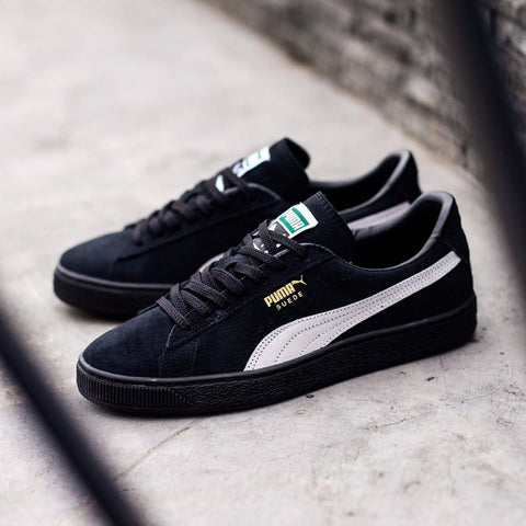 Puma Suede Full Black List White