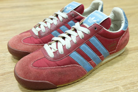 (USED) Adidas Dragon Classic Red Blue - (39 1/3)