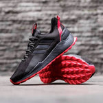 Adidas QUESTAR TRAIL Black Grey Sole red