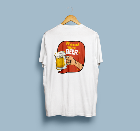 "3F Sneakers Tees ""Need More Beer"""