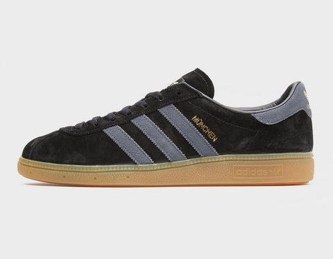 Adidas Munchen Black Grey  ||  (40 2/3, 41 1/3, 42, 42 2/3, 47 1/3)