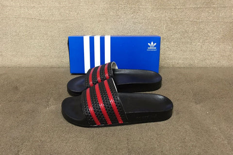 ADIDAS ADILETTE Black Red (Size Men Complete)
