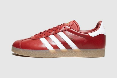 Adidas Gazelle Leather Maroon Classic - (Size Men Complete) e4d9fc7b1