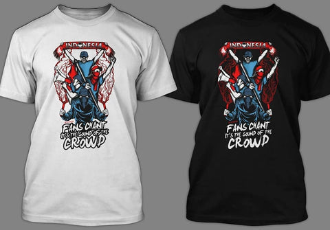 "Tees ""sound of the crowd"" Black & white ( size complete )"