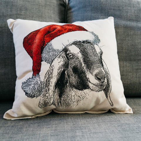 Goat Santa Pillow