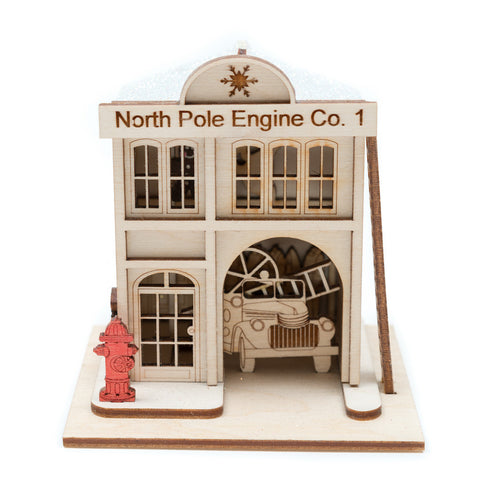 North Pole Engine Co. #1 Firehouse Ornament