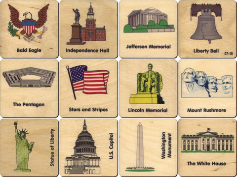 American Icon Memory Tiles