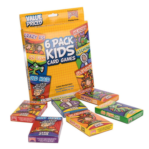 Kids Card Games 6-Pack