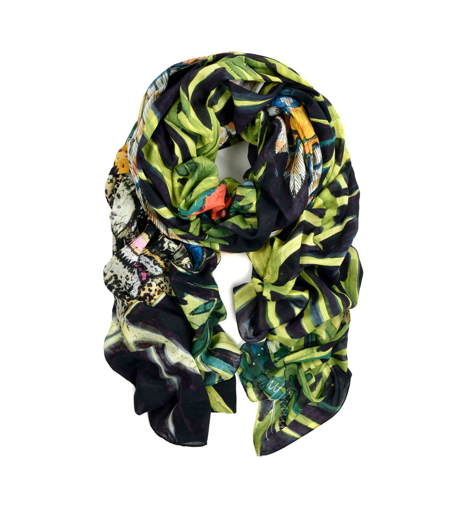 Butterfly Oversized Scarf by Tony Common | Rolled