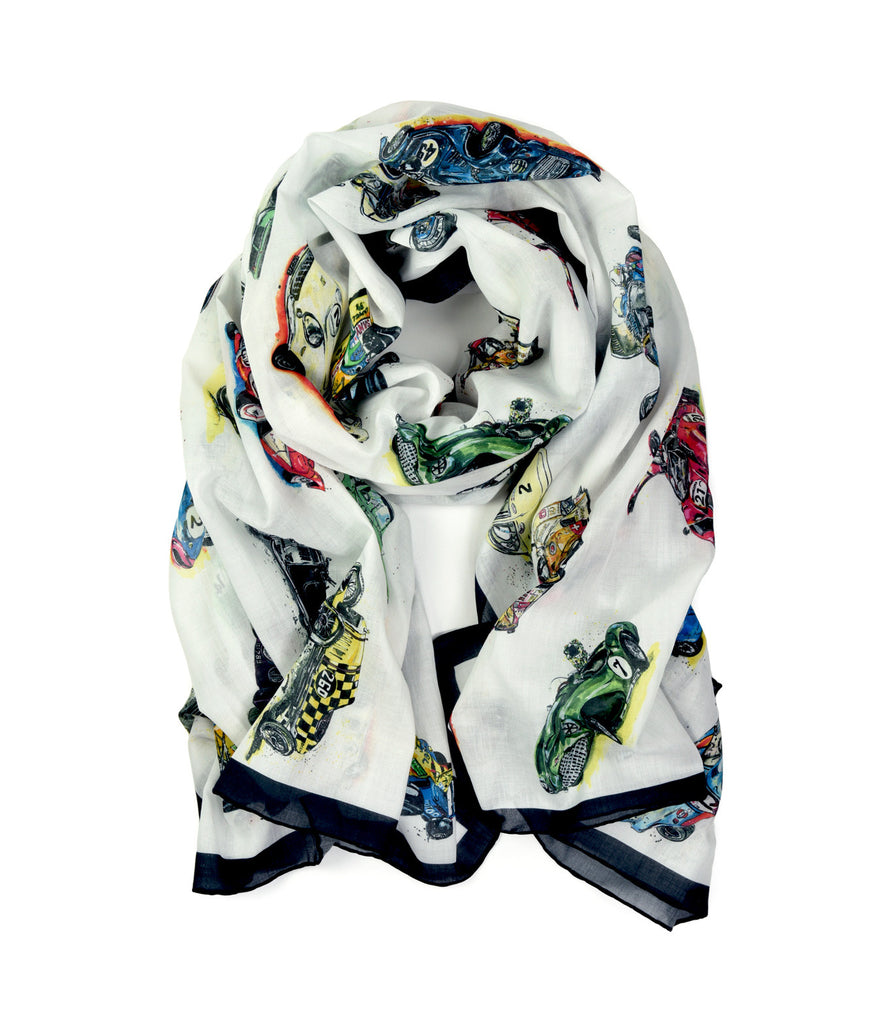 Cars Scarf by Anna-Louise Felstead | Rolled