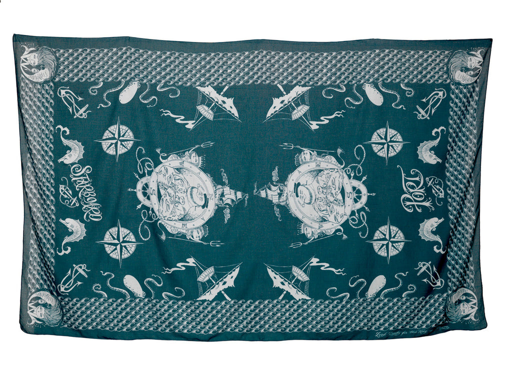 Sailor Oversized Scarf by Lord Dunsby | Flat