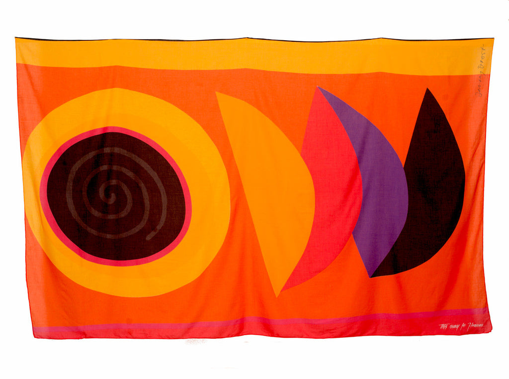 Spiral Sun Oversized Scarf by Sir Terence Frost | Flat