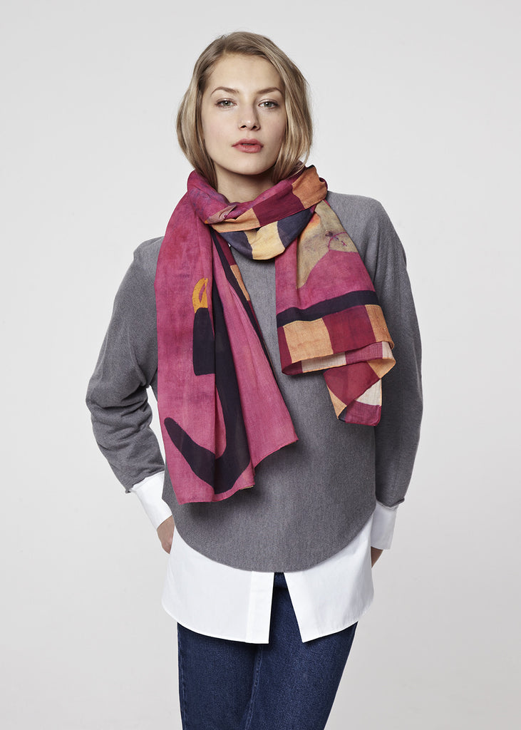 Fante 1 Scarf by Pebble London | worn