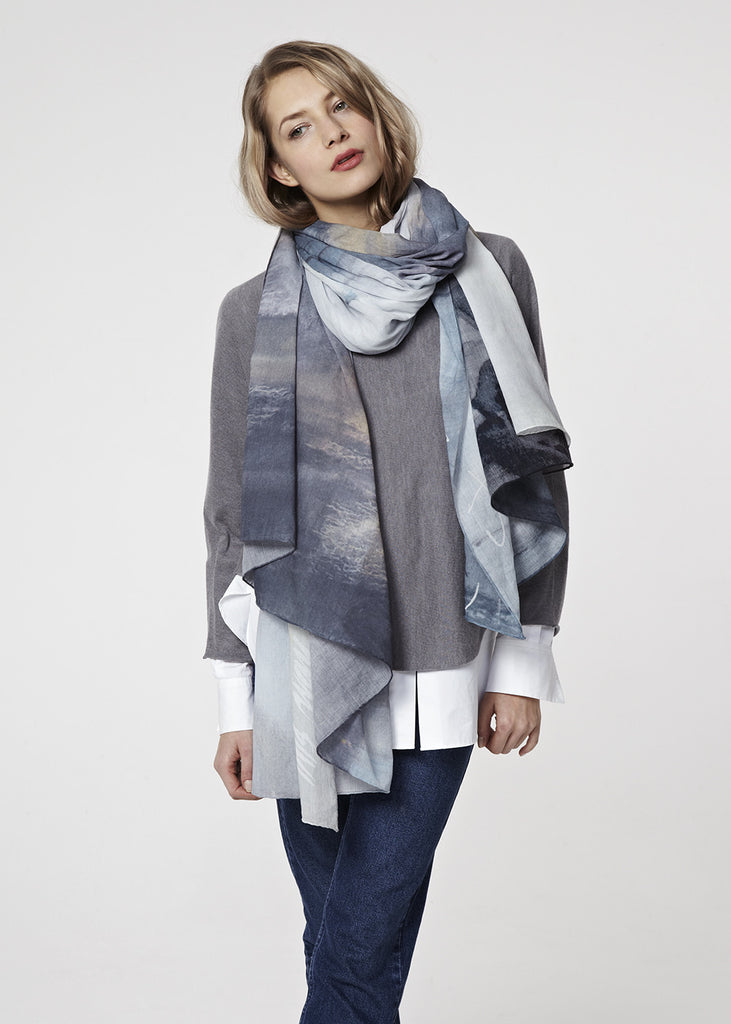 Delta Oversized Scarf by Emily Lamb | worn