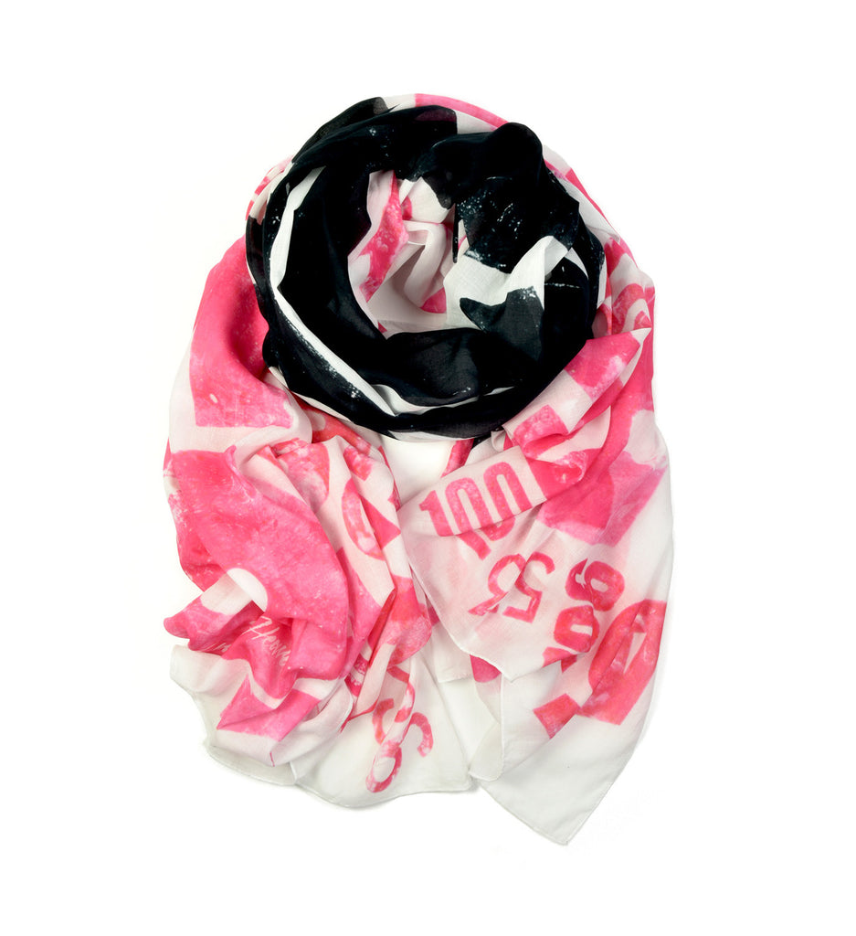 Taxi Oversized Scarf by Alan Kitching | Rolled