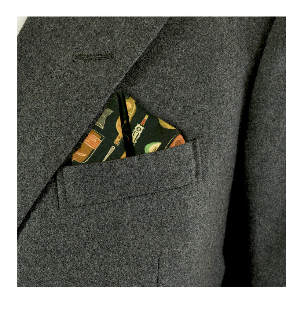 Cocktail Pocket Square by Lord Dunsby | worn