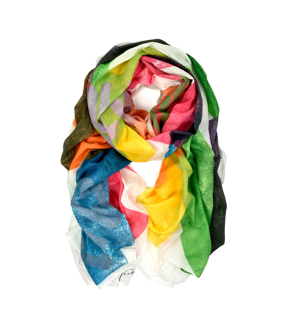 Colores Oversized Scarf by Alan Kitching | Rolled