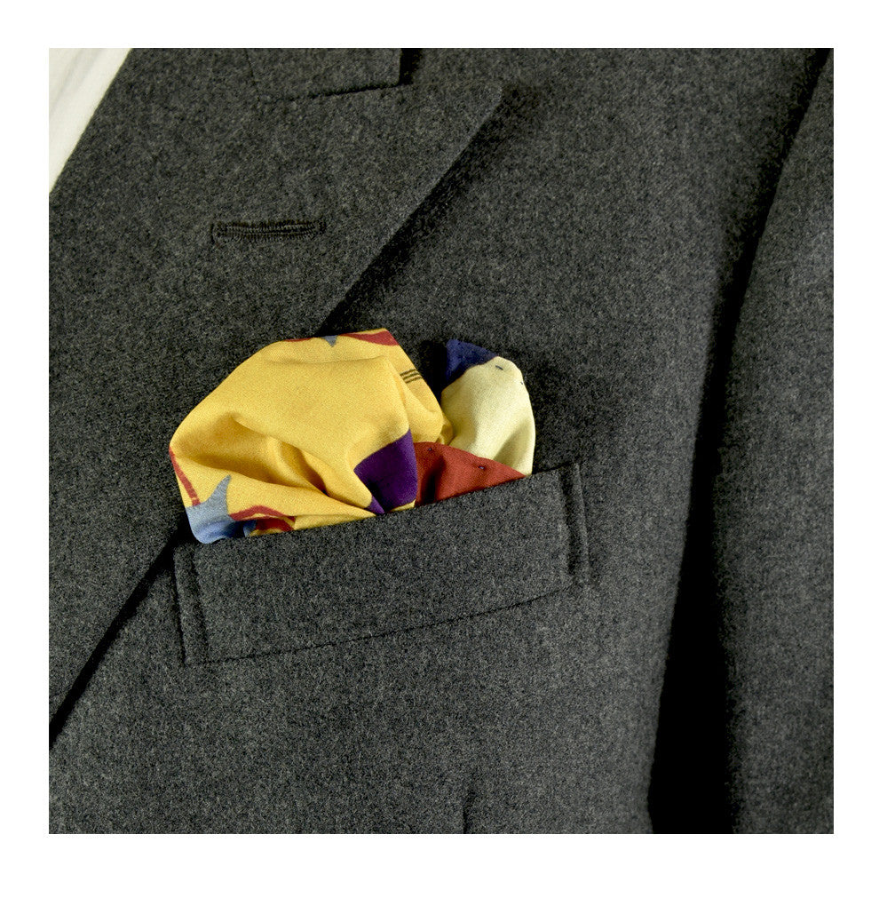 Fante 4 Pocket Square by Pebble London | worn