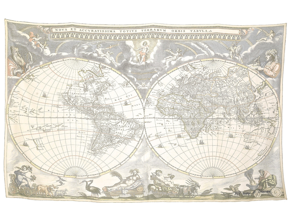 Antique Map Oversized Scarf/Sarong | Flat