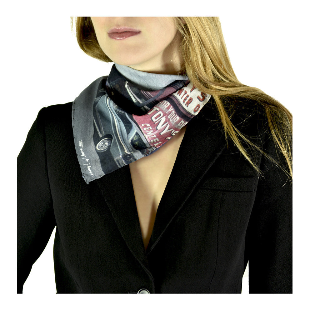Car 1 Neckerchief by Carl Glover | worn