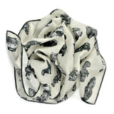 Cars Neckerchief by Anna-Louise Felstead | Rolled