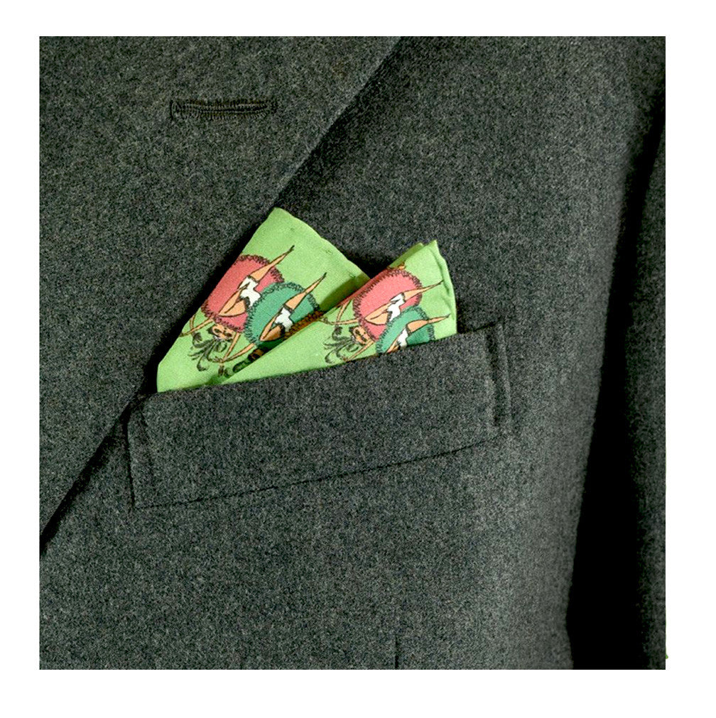 Can Can Pocket Square by Lord Dunsby | worn