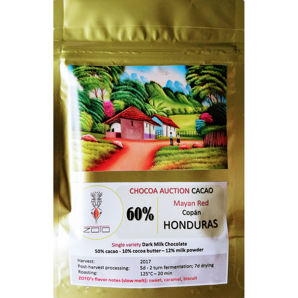 ZoTo Honduras Mayan Red 60% Dark Milk