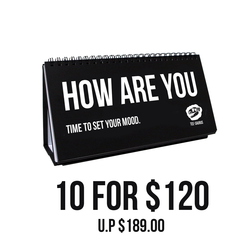 10 for $120 Bundle Pack - OFFICE BUDDY 'Perfectly English' Sketchpads - Tee-Saurus