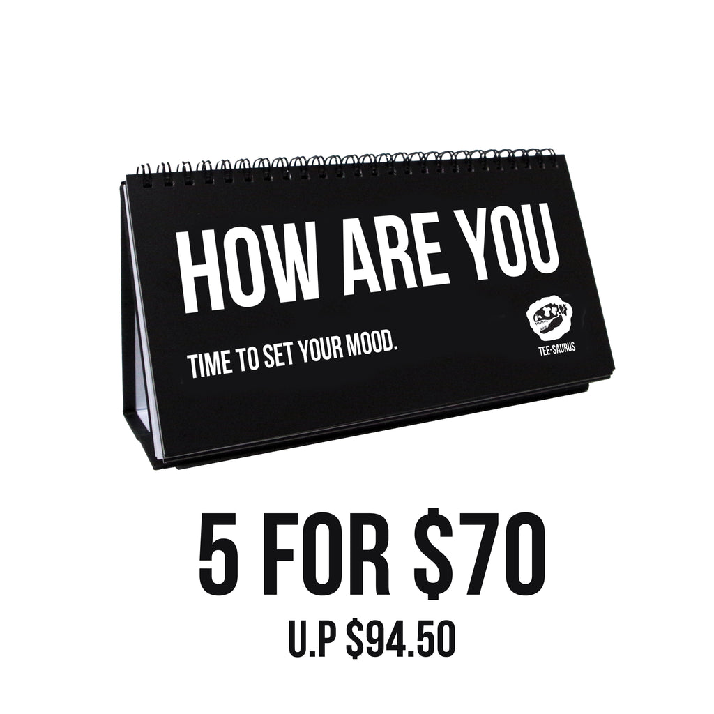 5 for $70 Bundle Pack - OFFICE BUDDY 'Perfectly English' Sketchpads - Tee-Saurus