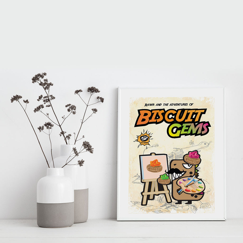 Art Prints-Rawr and the Biscuit Gem Poster