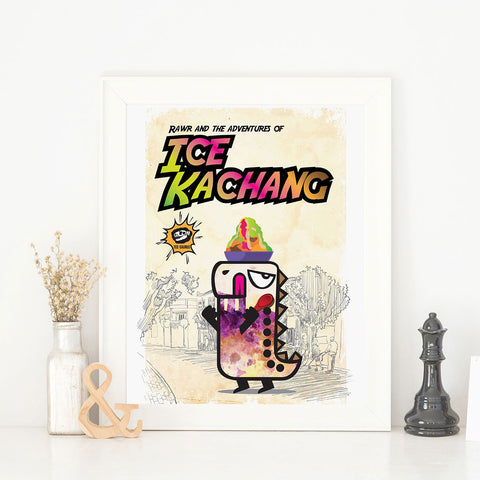 Art Prints - Rawr and the Ice Kachang Poster Collection