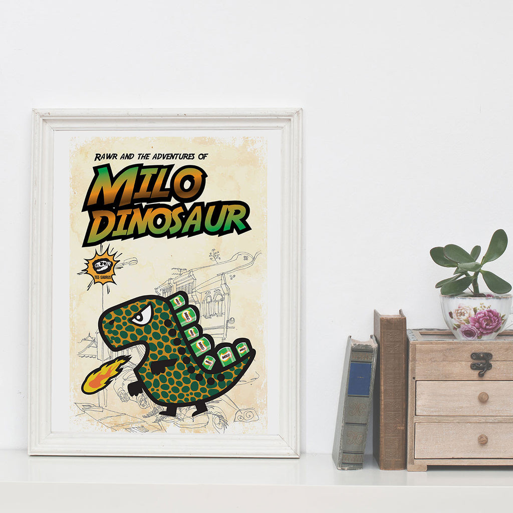 Art Prints-Rawr and the Milo Dinosaur Poster