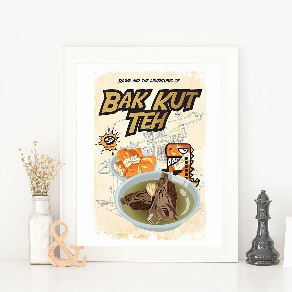 Art Prints-Rawr and the Bak Kut Teh Poster