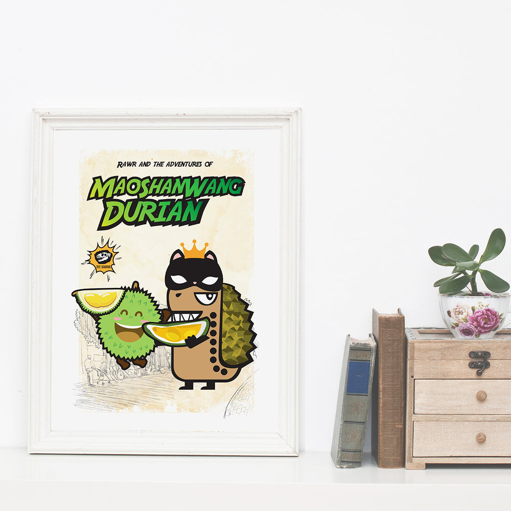 Art Prints-Rawr and the Durian Poster
