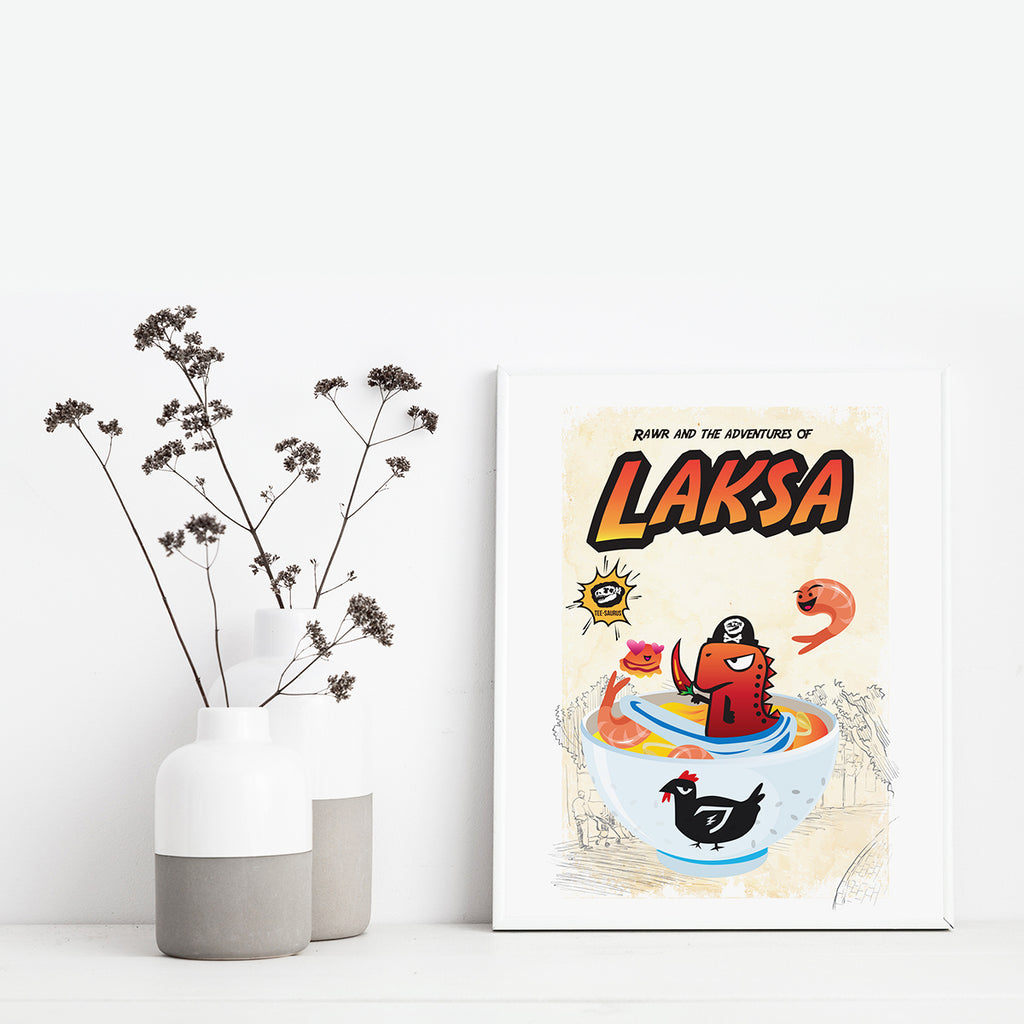 Art Prints-Rawr and the Laksa Poster