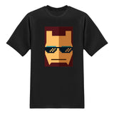 Cool Tees-Movie Tshirts - THUG Iron Man-Black tee