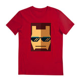 Cool Tees-Movie Tshirts - THUG Iron Man-Red tee