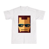 Cool Tees-Movie Tshirts - THUG Iron Man-White tee