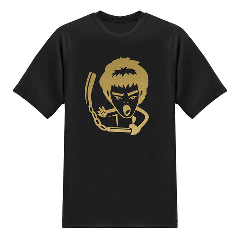 Cool Tees - Legend Heroes Tshirt - Bruce Lee - Chrome Gold T-shirt