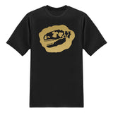 Signature Tee-Saurus Logo Tees - Chrome Gold T-shirt - Tee-Saurus - Black