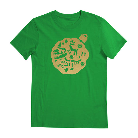 Christmas Festive Tees - Chrome Gold T-shirt