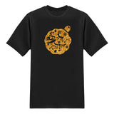 Christmas Edition tee - Glitter Gold T-shirt - Tee-Saurus - Black