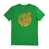 Christmas Edition tee - Glitter Gold T-shirt - Tee-Saurus - Forest Green