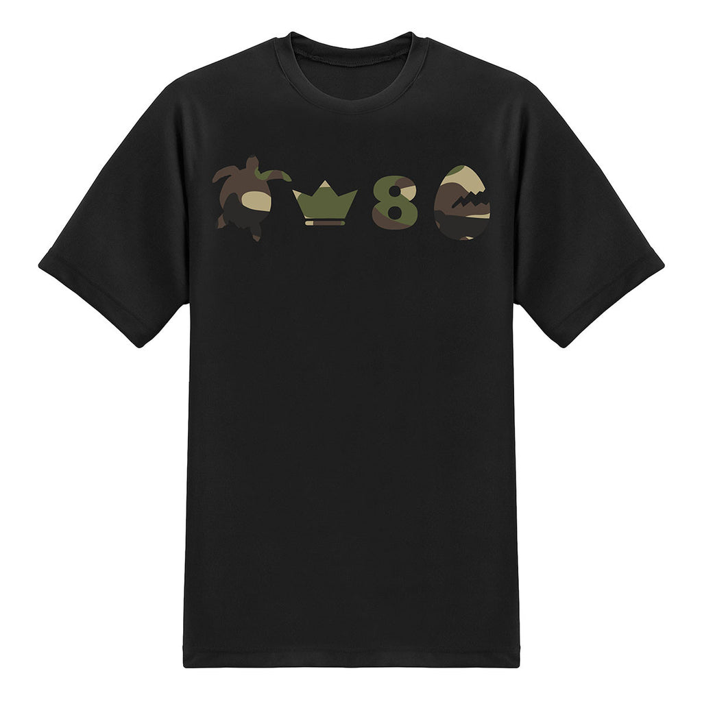 PUNS Tees - Turtle King 8 Egg - Camou T-shirt - Tee-Saurus