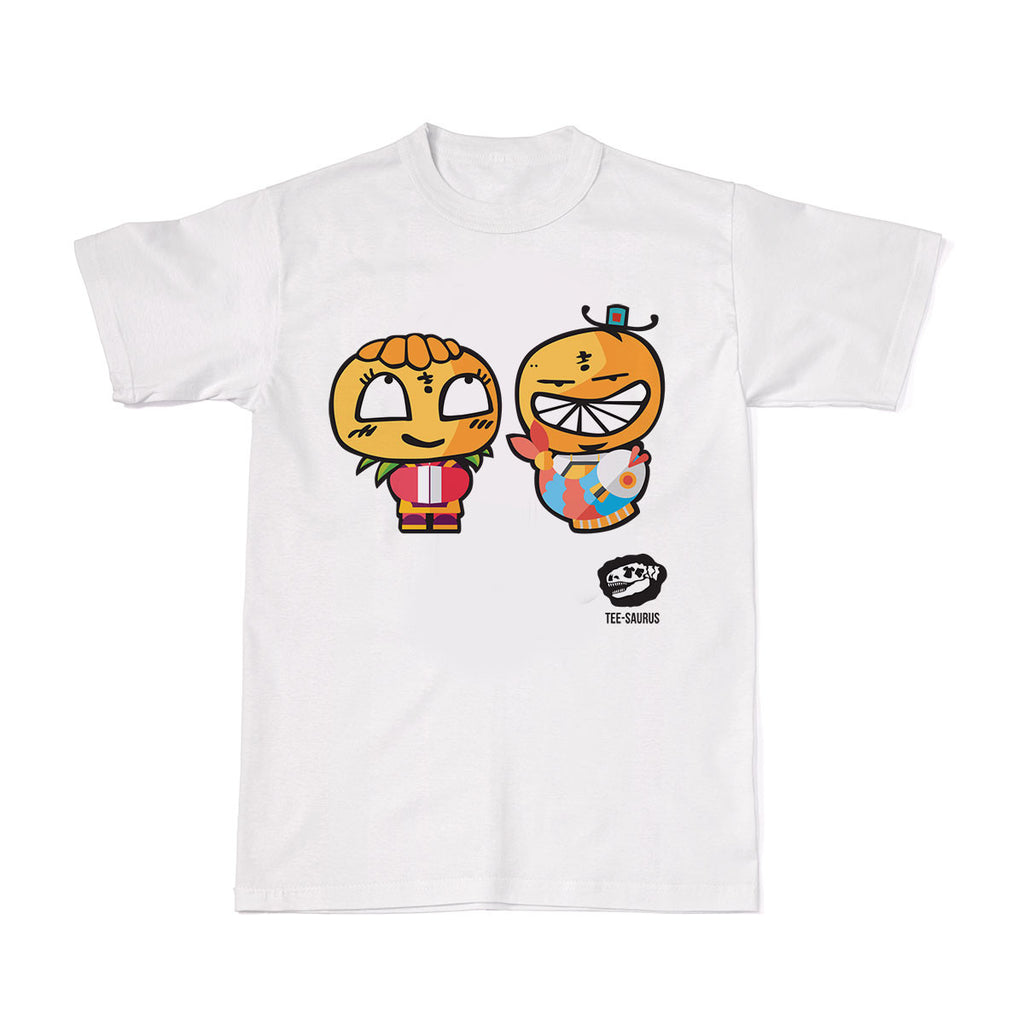 CNY Tees- Good Luck Double Bliss T-Shirt - Tee-Saurus - White