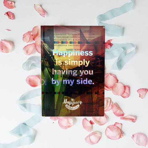 The Happier Lifestyle Store - Holographic Sketchbooks - Happiness is simply having you by my side