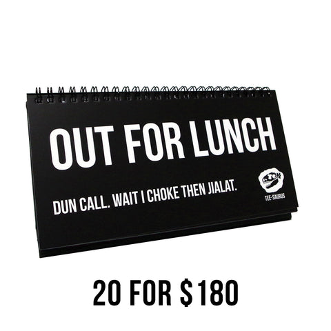 20 for $180 Bundle Pack - OFFICE BUDDY Singlish Sketchpads