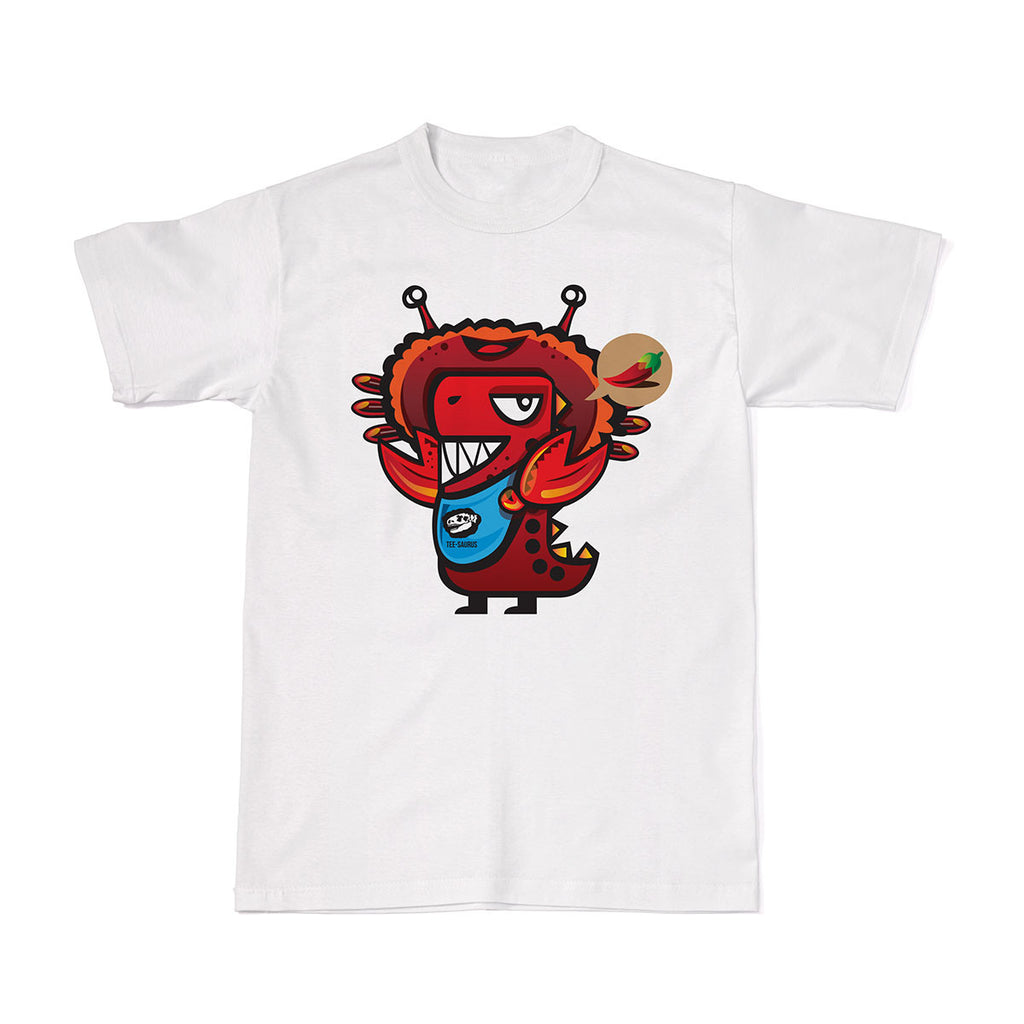 Tee-Saurus Rawr the T-Rex Chilli Crab Tee Tshirt