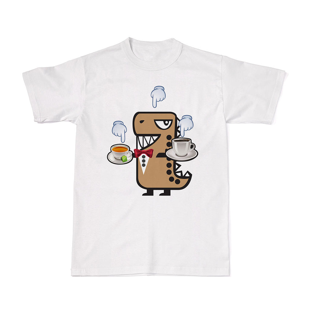 Tee-Saurus Rawr the T-Rex Coffee Tea Or Me Tee tshirt