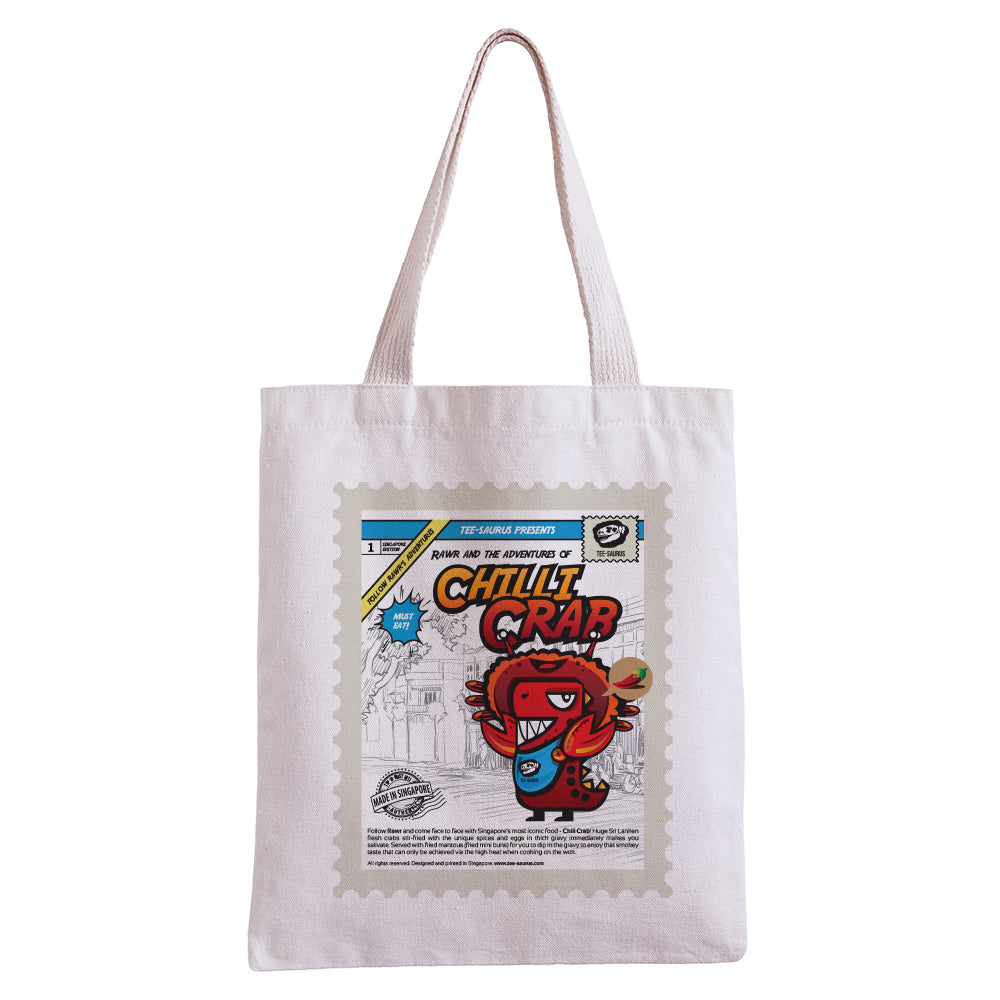 Tee-Saurus-Singapore-Chilli Crab-Cotton-Totebag